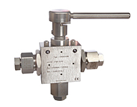 3-Way Ball Valves 0.375 in Orifice