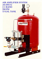 Air Amplifier System, 2:1 Ratio, 200 psi, 15 Gal Tank - AS-SPLV2
