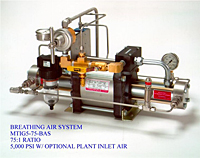 Breating Air System, 75:1 Ratio, 5,000 psi with Optional Plant Inlet Air