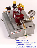 Power Pack 3,000 psi, Water 2 Gal s.s. Reservoir