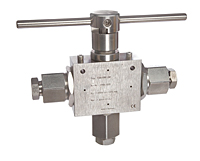 3-Way Ball Valves 0.5 in Orifice