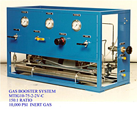 Gas Booster System, 150:1 Ratio, 10,000 Psi, Inert Gas