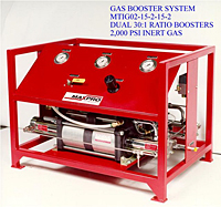 Gas Booster System Dual, 30:1 Ratio, 2,000 psi Inert Gas
