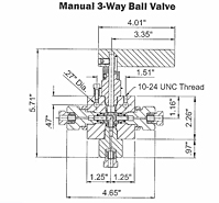Manual 3 way Ball Valve